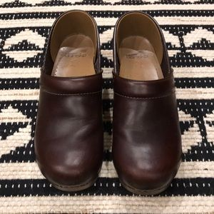 Dansko Professional dark brown clogs